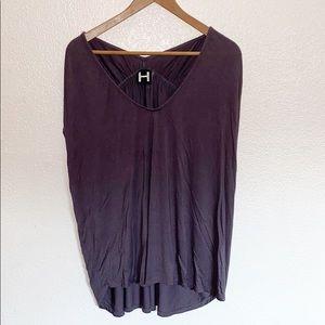 💛 3/$20 H by Bordeaux Purple V-Neck Top